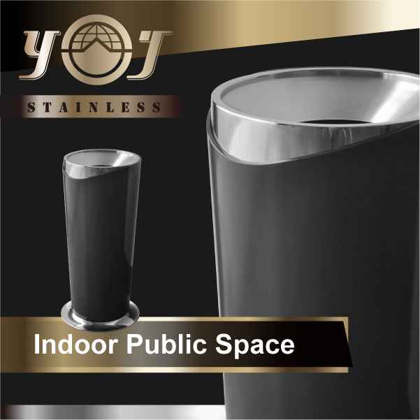 Kitchen stainless steel trash can photo - 3