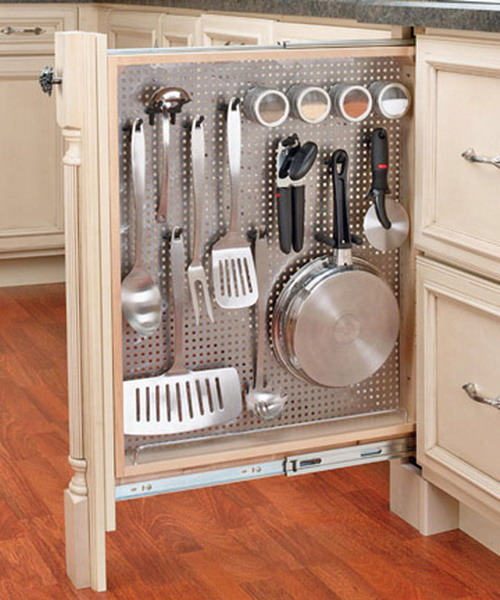 Kitchen storage cabinets with doors photo - 2