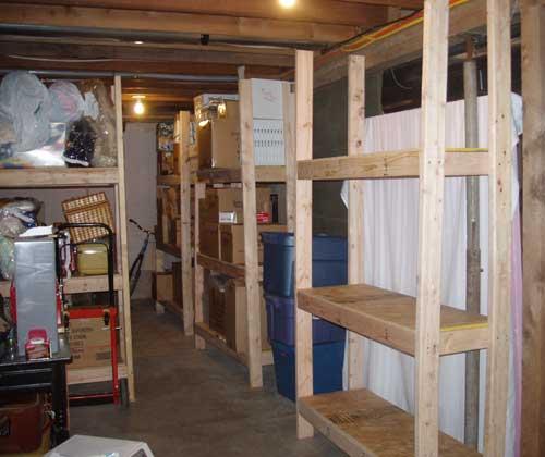 Kitchen storage shelves photo - 2