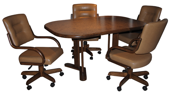 Kitchen table chairs with wheels photo - 3