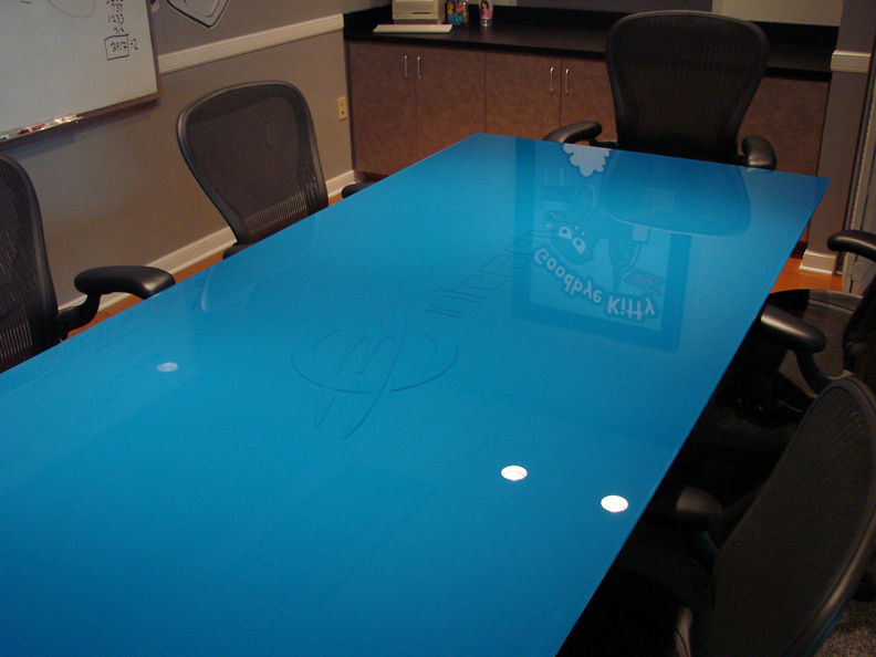 Kitchen table glass top photo - 2