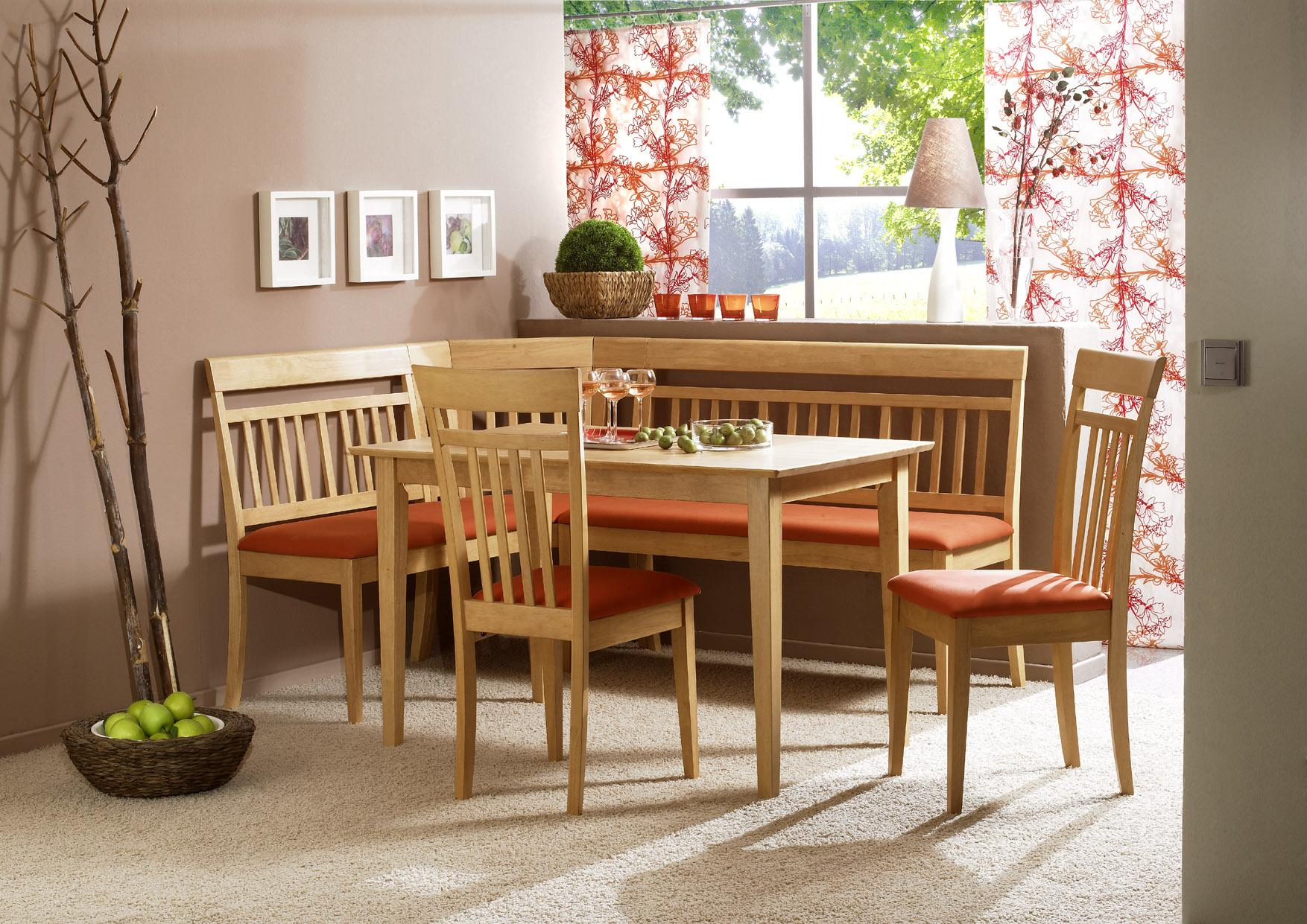 Kitchen table set with bench photo - 2