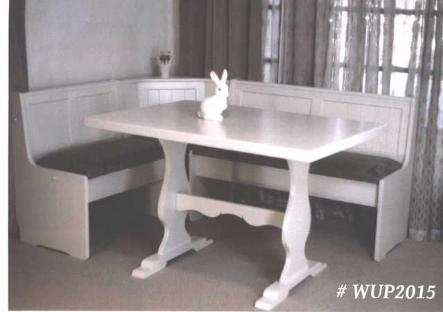 Kitchen table set with bench photo - 3