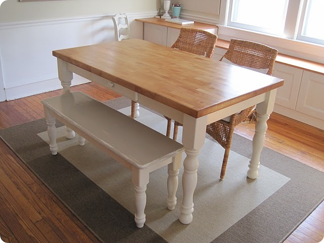 Kitchen table sets with bench seating photo - 1