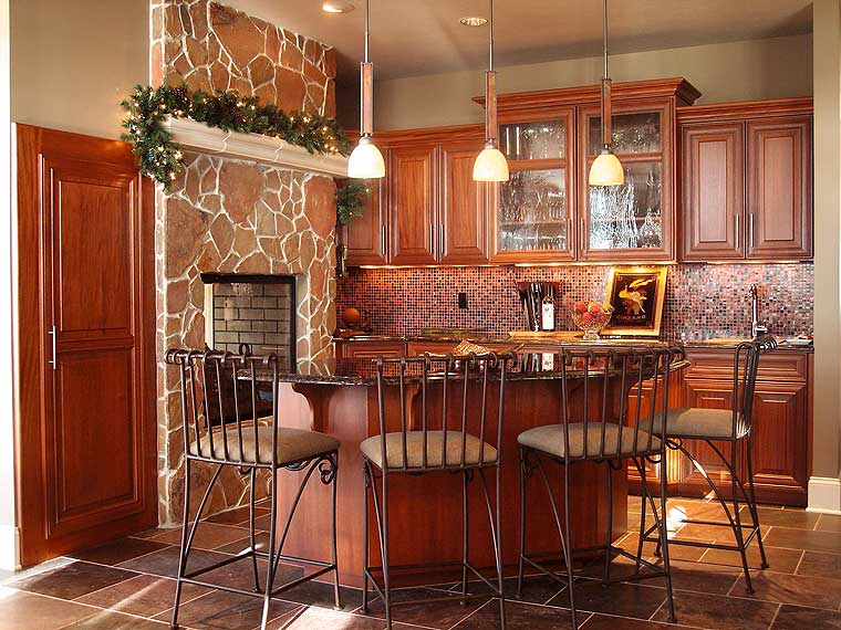 Kitchen table with bar stools photo - 2