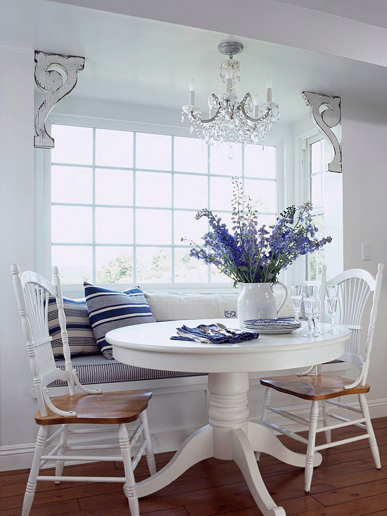 Kitchen table with bench seating photo - 1