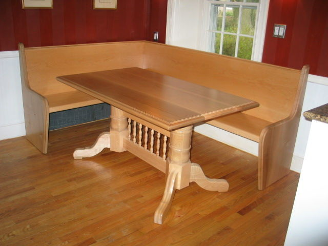 Kitchen table with bench seating photo - 2