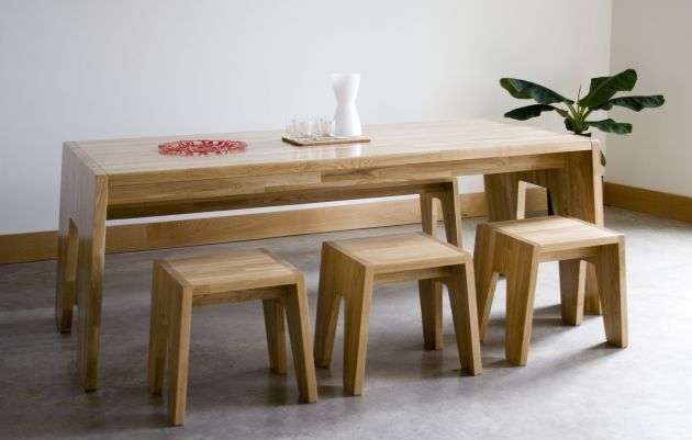 Kitchen table with bench seats photo - 3