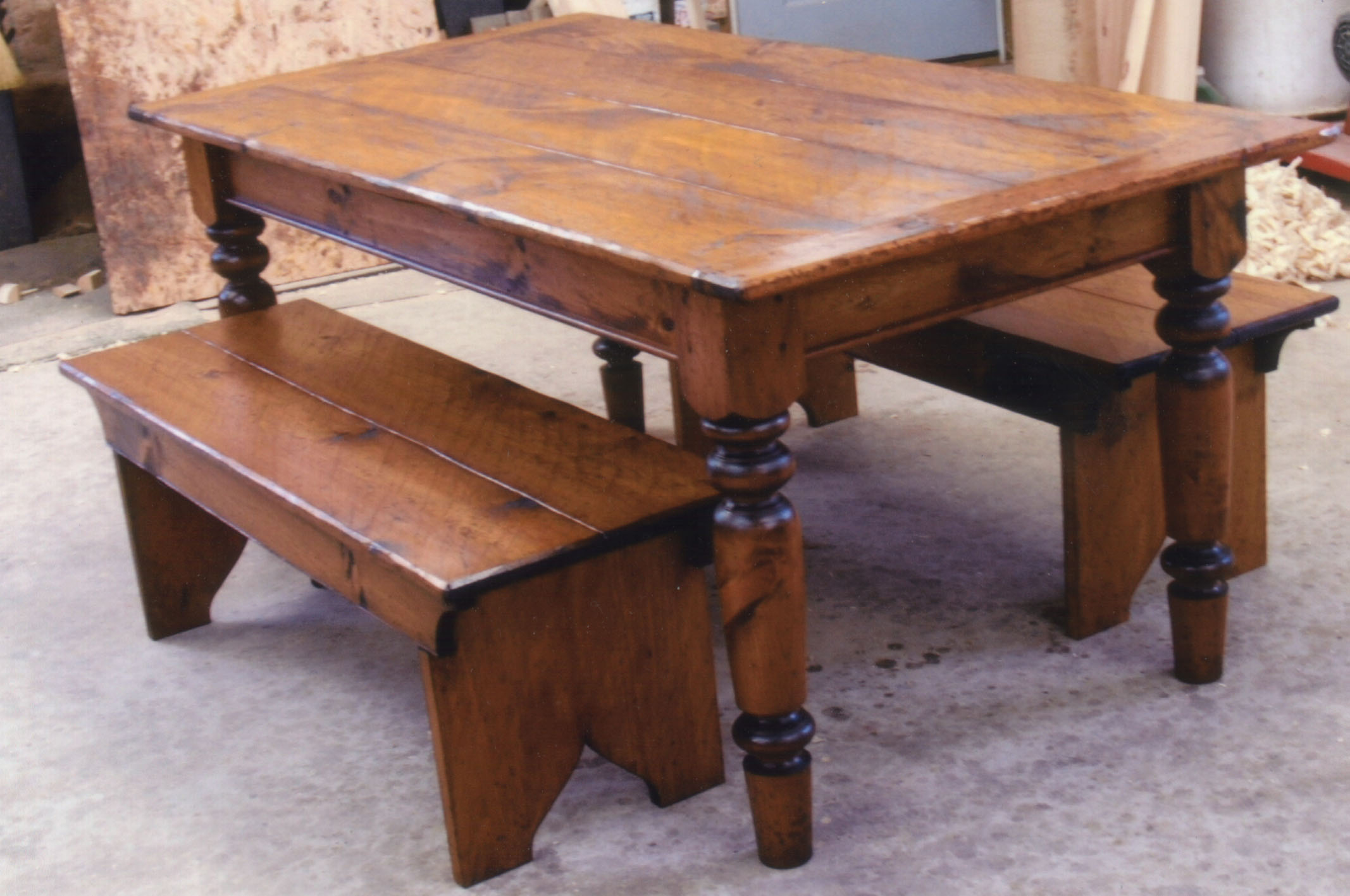 Kitchen table with benches | Kitchen ideas