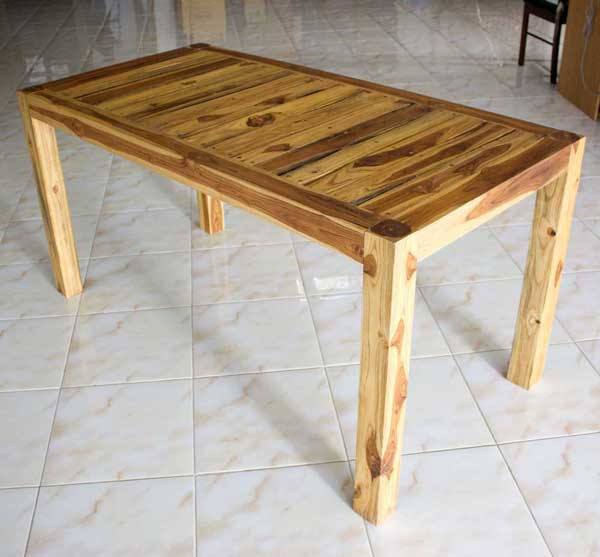 Kitchen table with stools underneath photo - 1