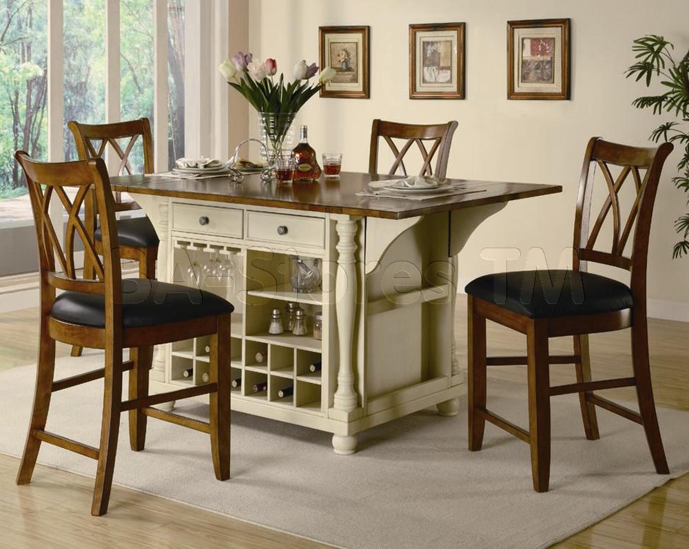 Kitchen table with stools underneath photo - 3