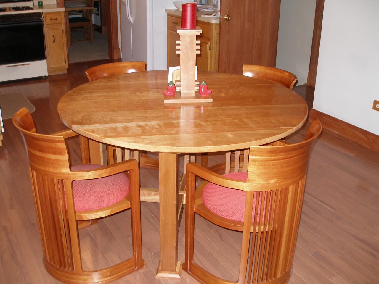 Kitchen table with wine rack photo - 2
