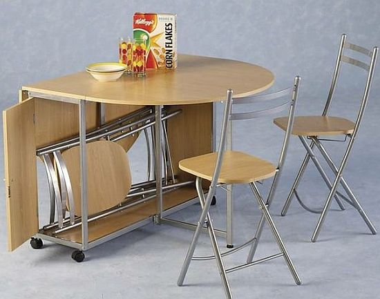 Kitchen tables and chairs for small spaces photo - 1