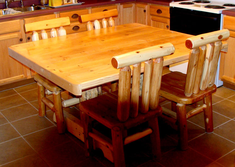 Kitchen tables and chairs wood photo - 3