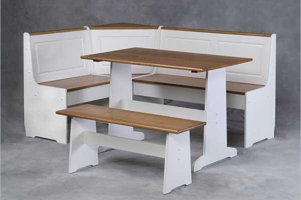 Kitchen tables with bench and chairs photo - 2
