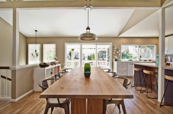 Kitchen tables with benches and chairs photo - 3