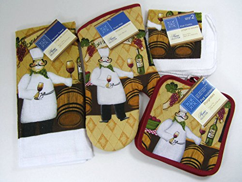 Kitchen towel sets with pot holders photo - 2