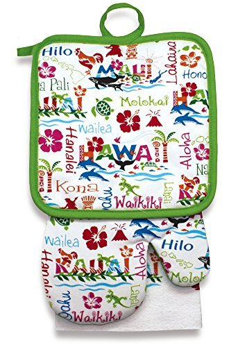 Kitchen towel sets with pot holders photo - 3