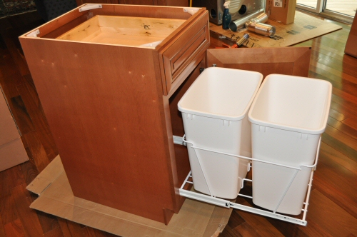 Kitchen trash can storage cabinet photo - 2