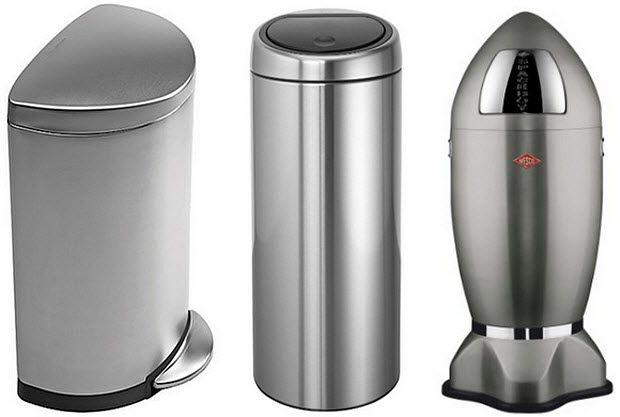 Kitchen trash cans stainless steel photo - 1