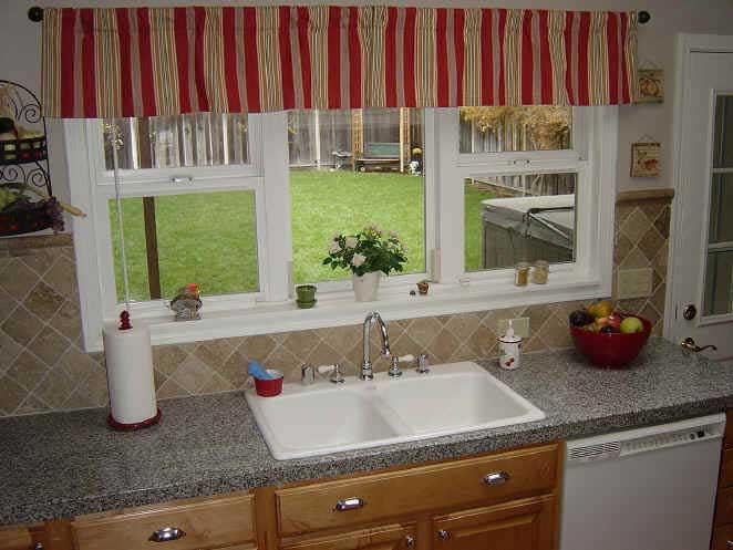 Kitchen valance curtains photo - 2