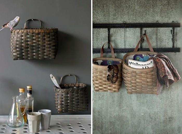 Kitchen wall baskets photo - 3