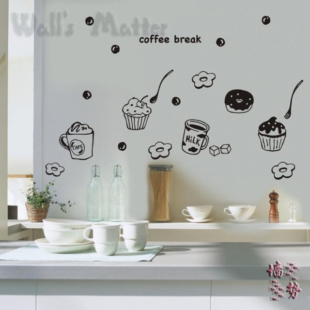 Kitchen wall decals removable photo - 3