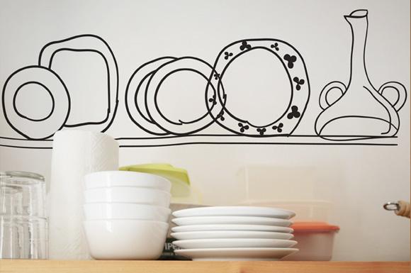 Kitchen wall stickers photo - 3