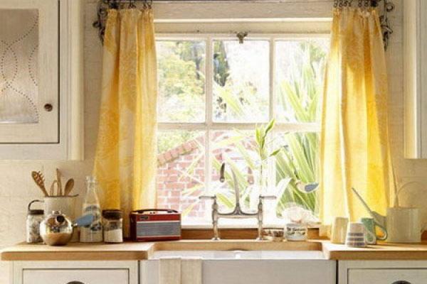 Kitchen window curtains photo - 3