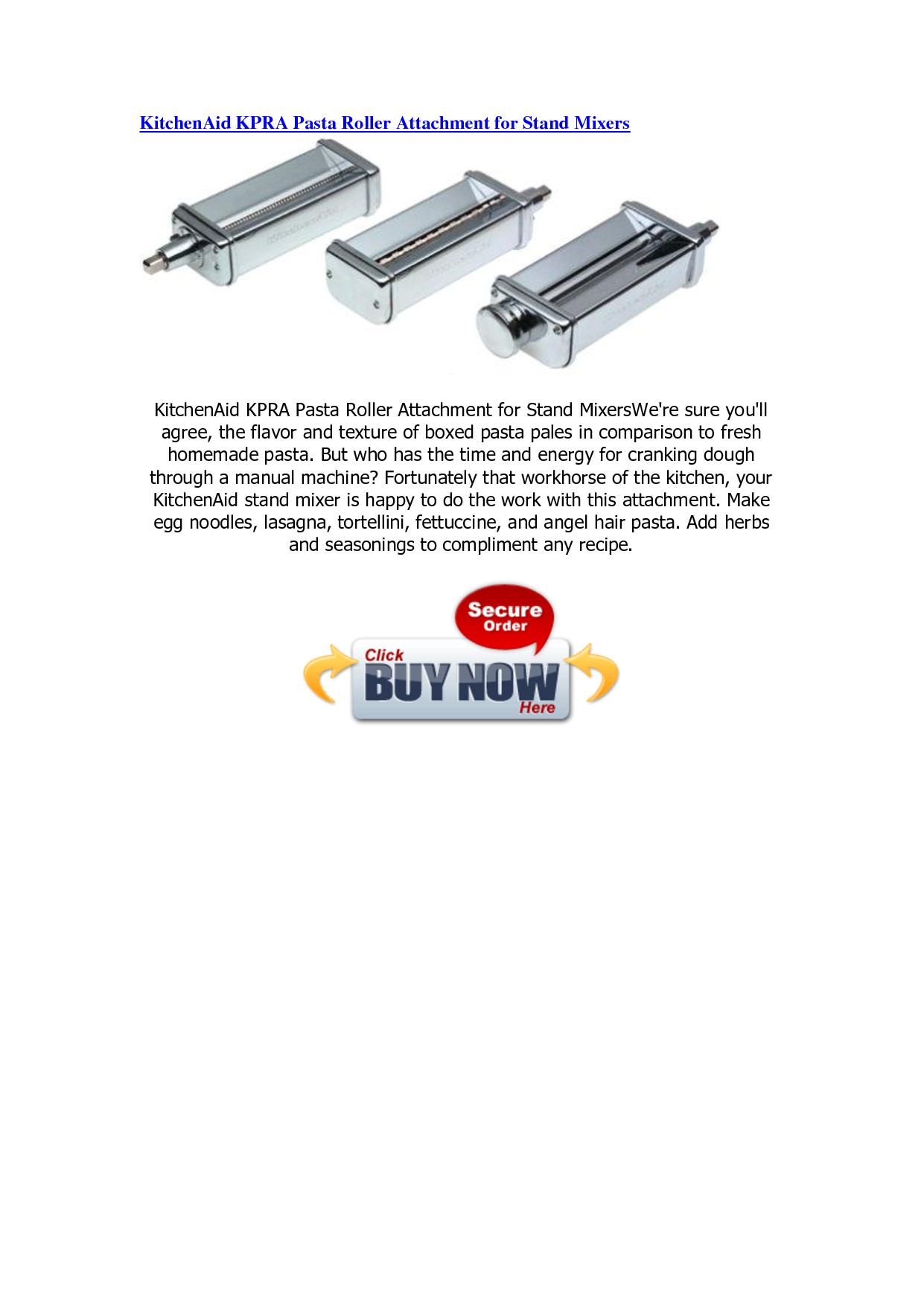 Kitchenaid kpra pasta roller attachment for stand mixers photo - 2