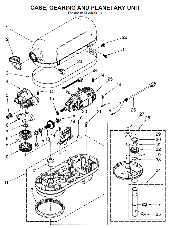 Sunbeam 2346 Parts List And Diagram Ereplacementpartscom