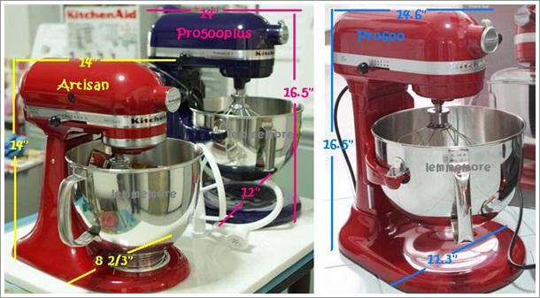 Kitchenaid stand mixer sizes photo - 2
