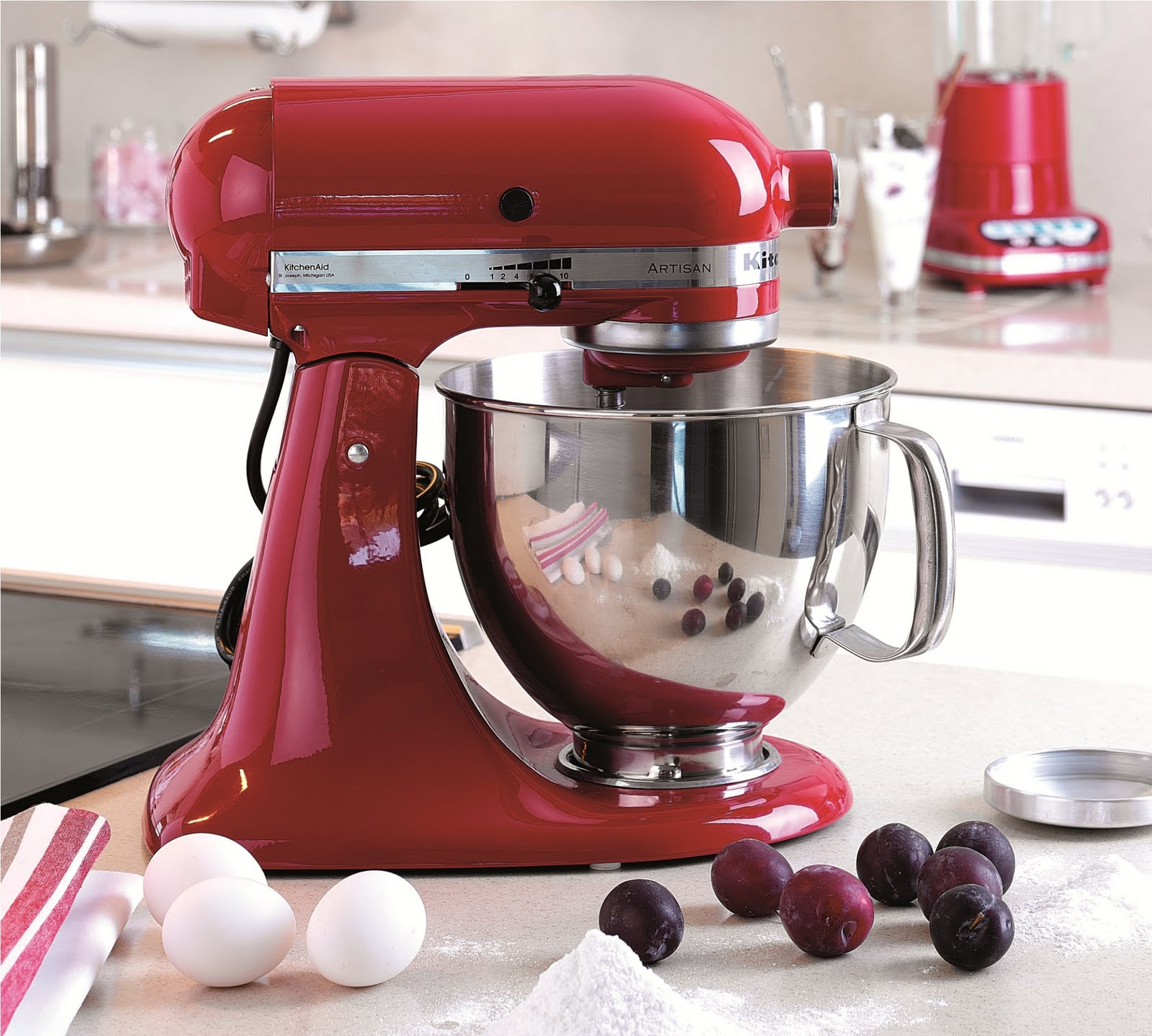 Kitchenaid white mixer photo - 2