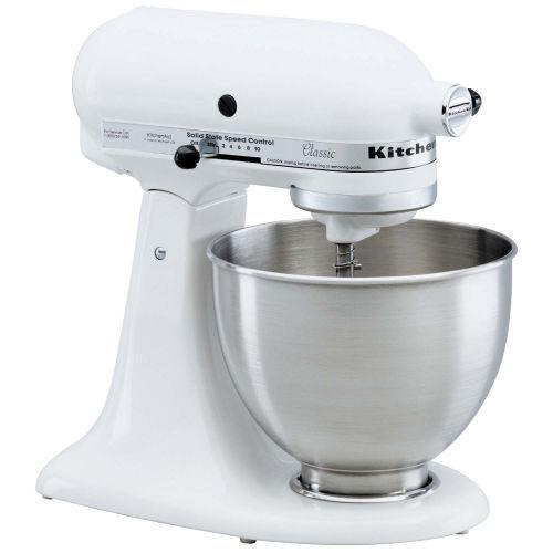 Kitchenaid white mixer photo - 3