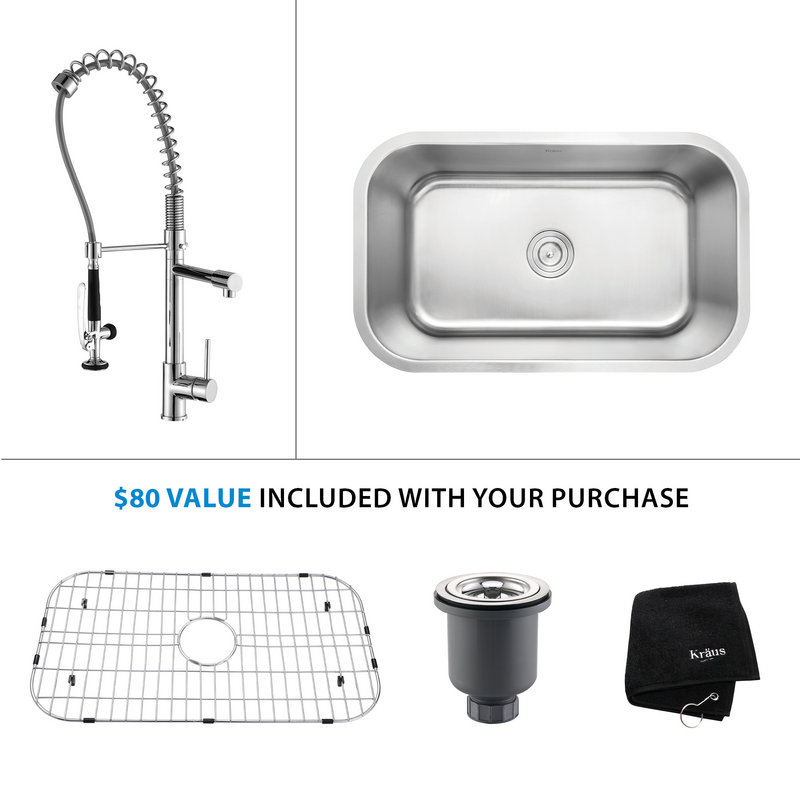 Kraus Commercial Pre Rinse Chrome Kitchen Faucet Kitchen Ideas