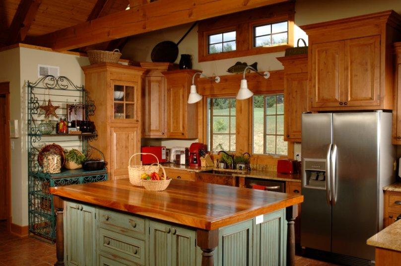 Light oak kitchen table photo - 3