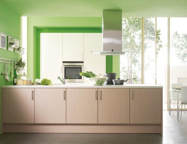 Lime green kitchen curtains photo - 1