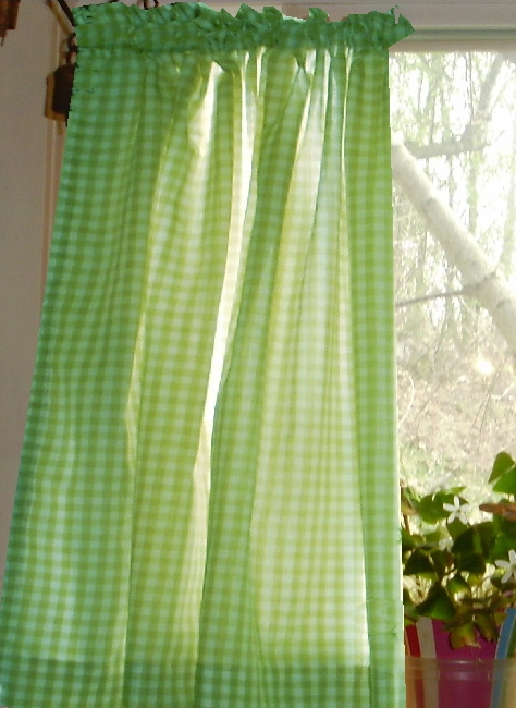 Lime green kitchen curtains photo - 3