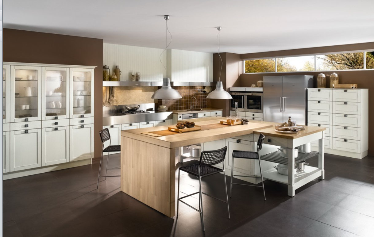 Mobile kitchen island with seating photo - 3