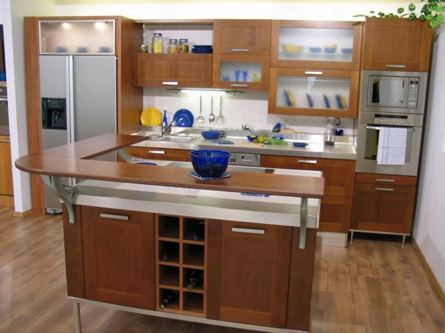 Modern kitchen island cart photo - 1