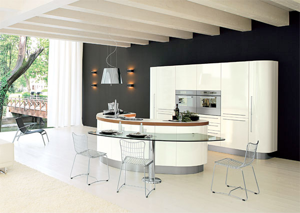 Movable kitchen islands with seating photo - 3