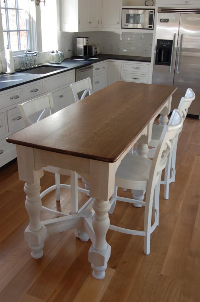 10 Photos To Narrow Kitchen Island Table