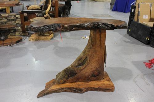 Natural wood kitchen table photo - 2