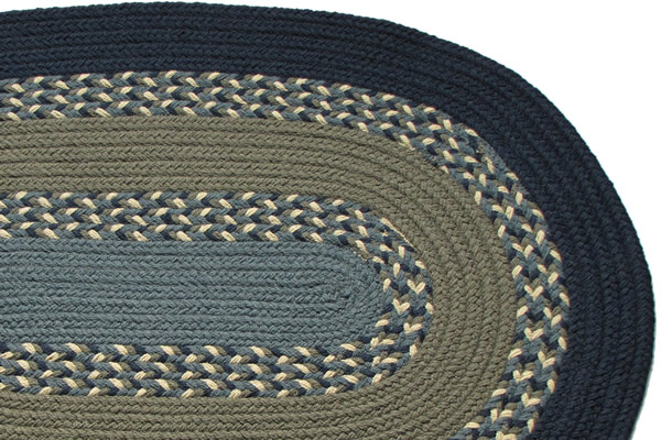Navy blue kitchen rugs photo - 3