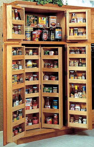 Oak kitchen pantry cabinet photo - 3