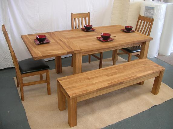 Oak kitchen table and chairs photo - 1