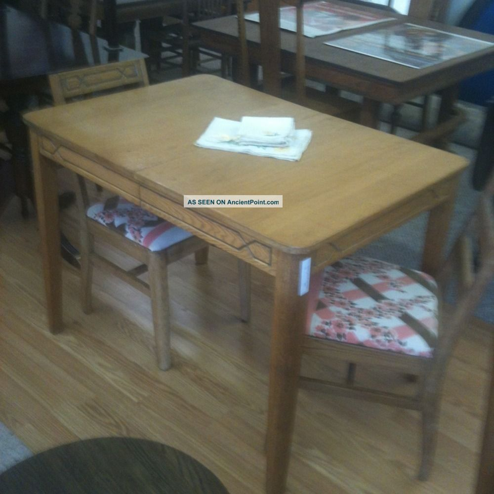 Oak kitchen table and chairs photo - 3