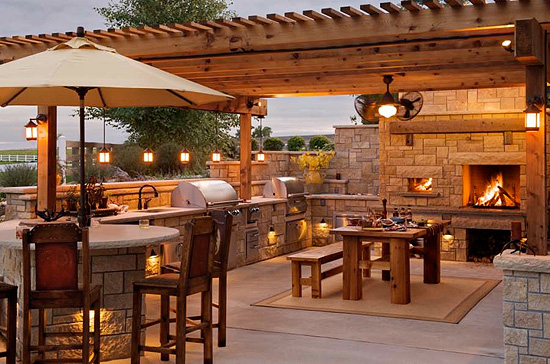Outdoor kitchen lighting fixtures photo - 1