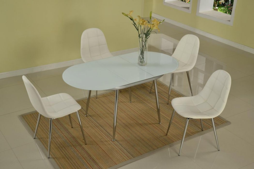Oval kitchen table sets photo - 3