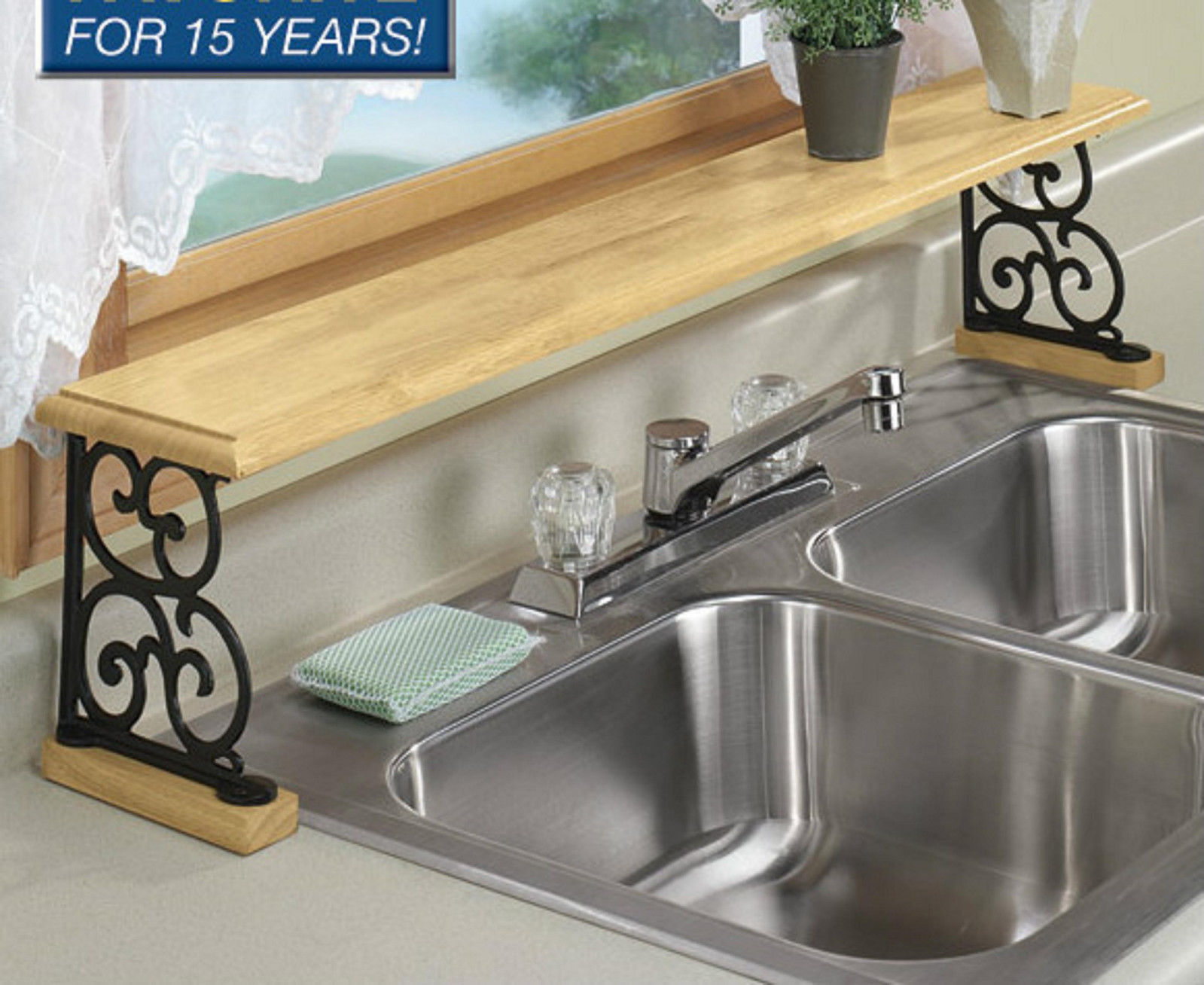 10 Photos To Over Sink Shelf Kitchen